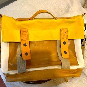 Heath + Stein sunny yellow briefcase bag